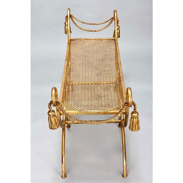 Mid-Century Gilt Metal Neoclassical Bench - Image 5 of 8