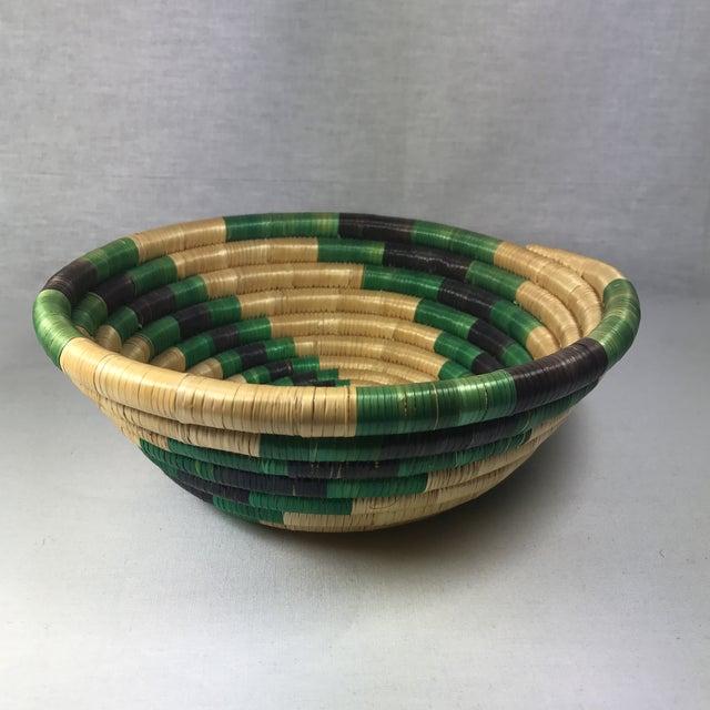 Handmade African Grass Basket - Image 2 of 11