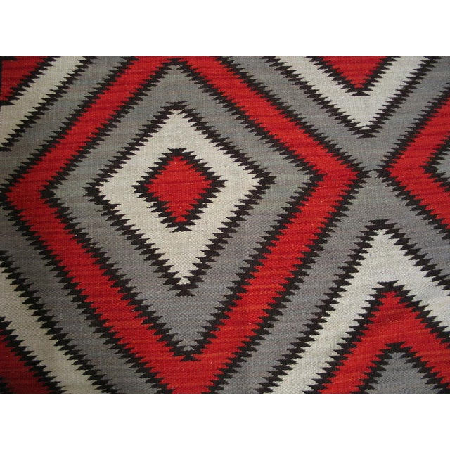 Red Navajo Style Wool Rug - 8′ × 10′ For Sale - Image 5 of 5