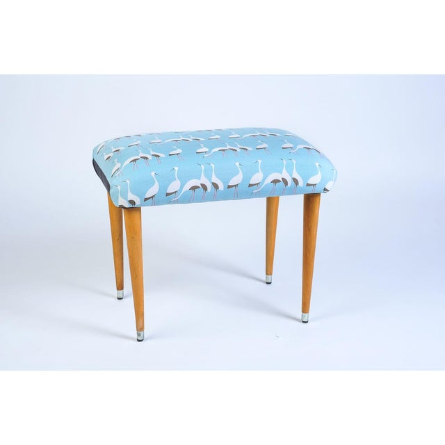 Footstool Covered With Japanese Furoshiki Wrapping Cloth For Sale - Image 4 of 4