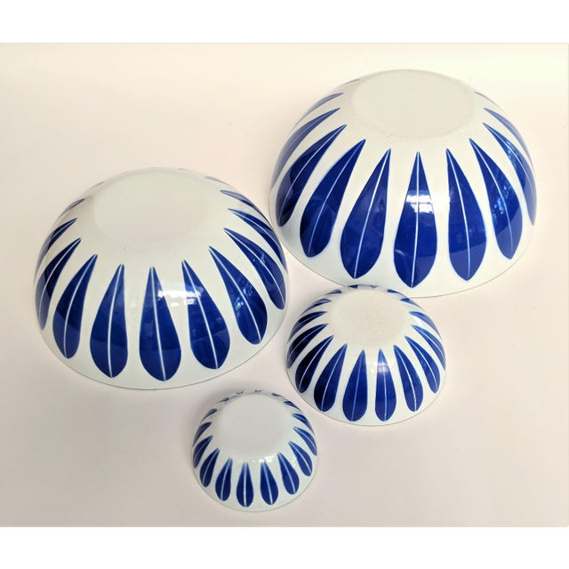 Cathrineholm Catherineholm Blue and White Nesting Bowls - Set of 4 For Sale - Image 4 of 10