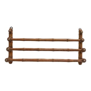 19th-C. French Faux Bamboo Towel Rack For Sale