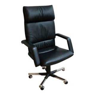 Vitra Mario Bellini Executive Black Leather Chair