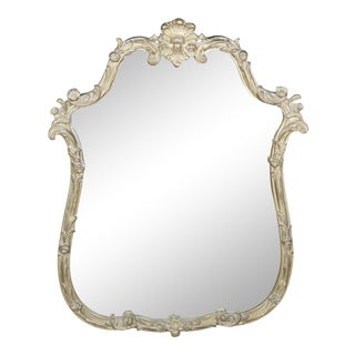 Davis Cabinet Company French Baroque Antique Gold Scalloped Wall Mirror For Sale