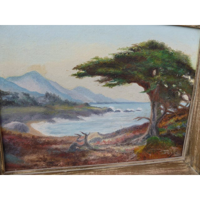 """1970s """"Montaña De Oro State Park"""" Oil Paintings - A Pair For Sale - Image 5 of 11"""