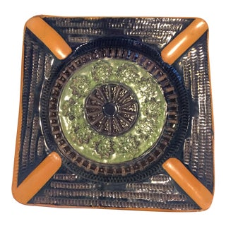 Vintage Mid Century Italian Art Pottery Ashtray For Sale