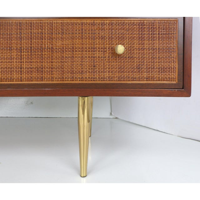 Harvey Probber Woven Cane Front Dresser For Sale - Image 7 of 11