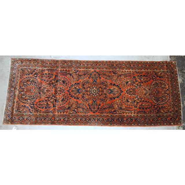 Islamic 1920s, Handmade Antique Persian Sarouk Rug For Sale - Image 3 of 8