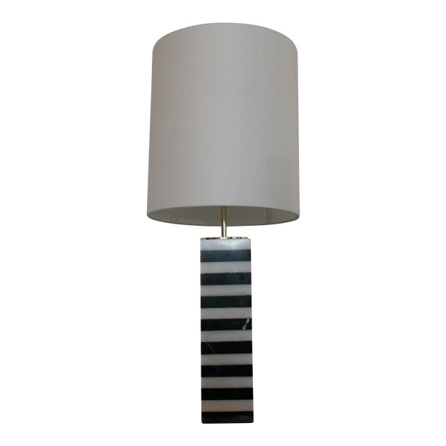 Mason Marble Stack Lamp For Sale