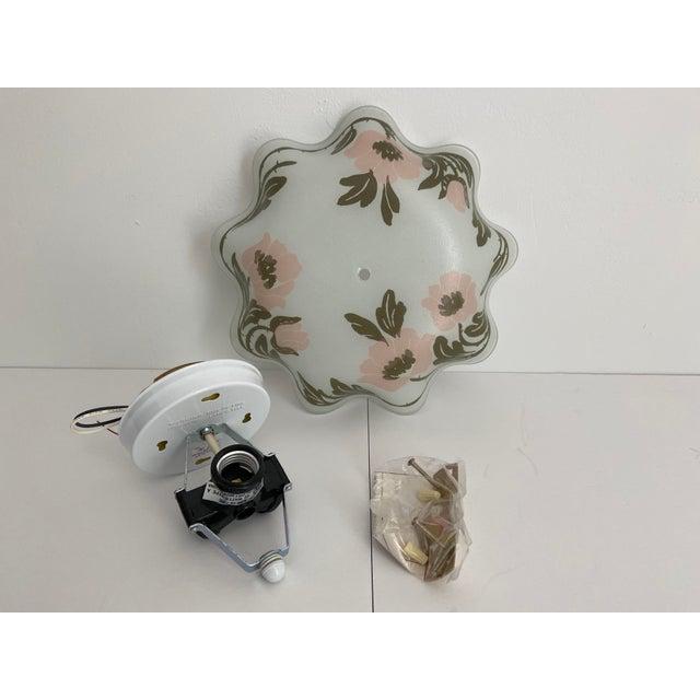 Ruffled Floral Flush Light For Sale - Image 6 of 7