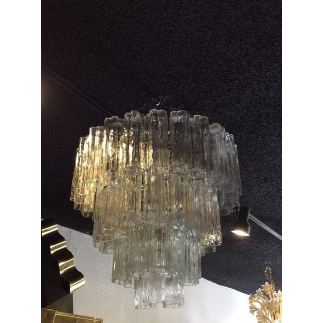 Hollywood Regency Vintage Murano Glass Chandelier Tronchi For Sale - Image 3 of 8