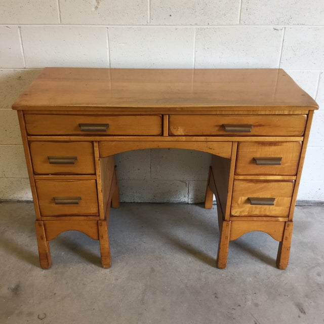 Early Heywood-Wakefield Style Desk For Sale - Image 13 of 13