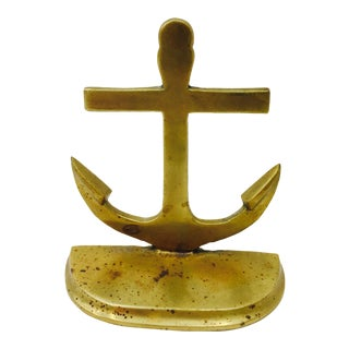 Vintage Brass Anchor Paperweight