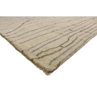 Contemporary Moroccan Area Rug With Organic Modern Style - 10'02 X 14'00 Preview