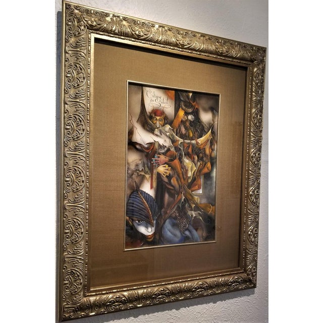 "Black Vladimir Ryklin ""Cirque De Soleil 1"" Oil Painting on Canvas For Sale - Image 8 of 10"