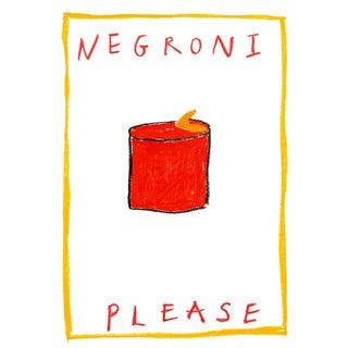 """Negroni Please"" Contemporary Minimalist Text Art Giclee Print"