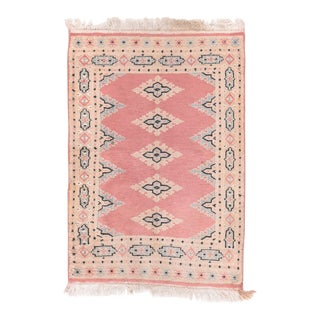 Excellent Rust Bukhara Pakistan Area Rug For Sale