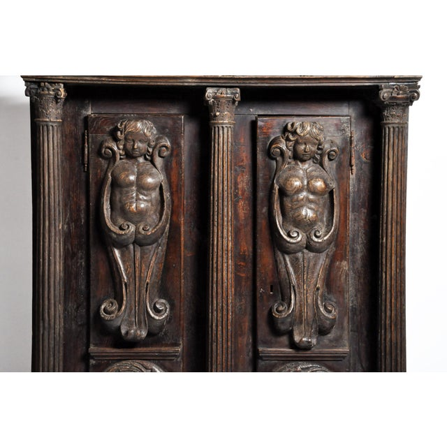 Brown Impressive Renaissance Revival Armoire For Sale - Image 8 of 13