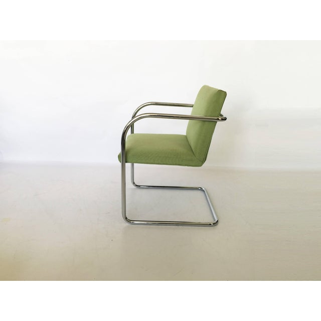 Beautiful pair of Brno chairs. The cantilevered frame is a single piece of tubular chromed steel. Seats are in their...