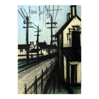 "Bernard Buffet the Village Road 12.25"" X 9.5"" Lithograph 1966 Surrealism For Sale"