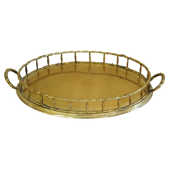 1960s Brass Cocktail Tray - Image 1 of 5
