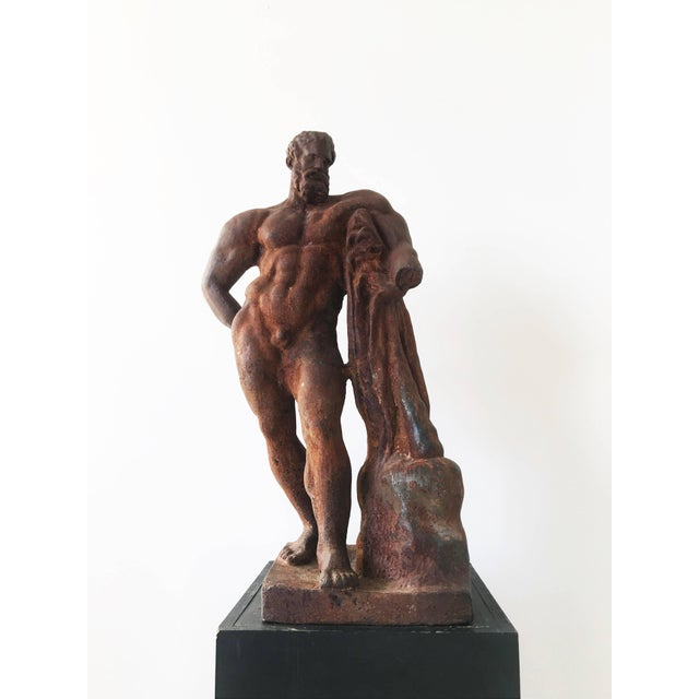 Italian Serpentine Figure of the Farnese Hercules For Sale - Image 10 of 10