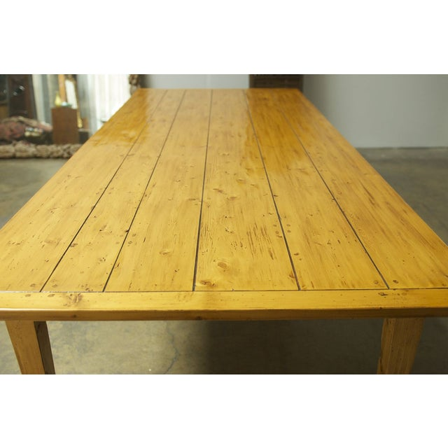 Italian Pine Farm Dining Table - Image 7 of 11