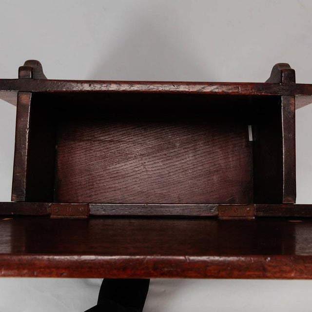 Oak Carved French Oak Flip Top Stool With Grapes For Sale - Image 7 of 8