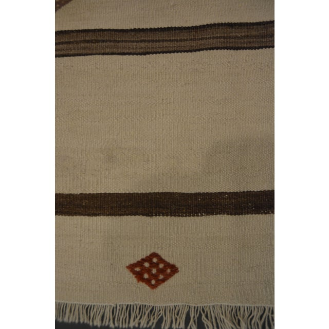 "Banded Kilim Wide Runner - 4'10"" X 10'6"" - Image 2 of 2"