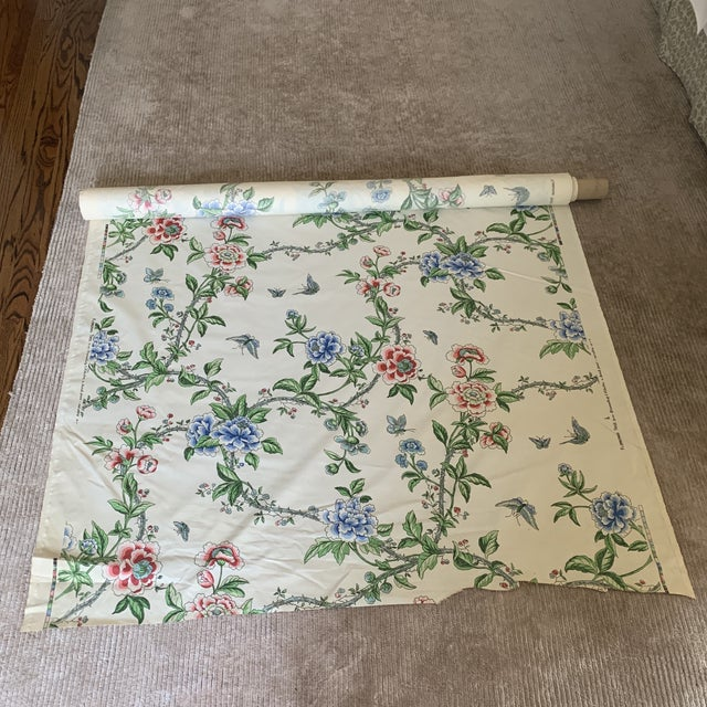 Brunschwig & Fils Brunschwig and Fils Flowering Tree Cotton Fabric- 4 Yards For Sale - Image 4 of 7