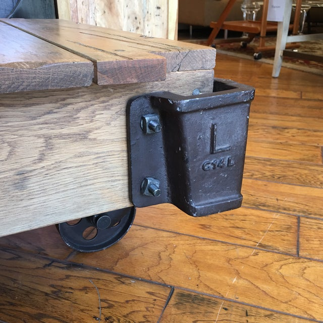 Cheap Factory Cart Coffee Tables: Restoration Hardware Furniture Factory Cart Coffee Table