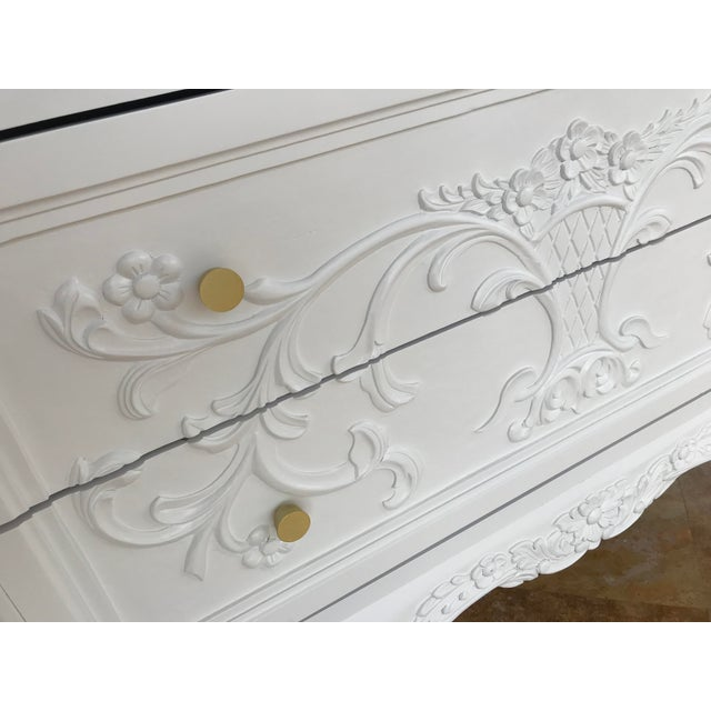 Metal Country French White Dresser For Sale - Image 7 of 8