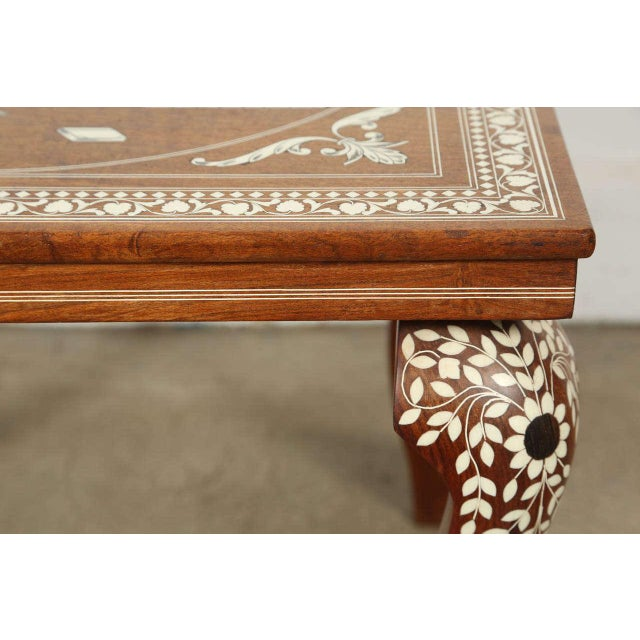 Mid 20th Century Anglo Indian Inlaid Square Side Table For Sale - Image 5 of 10