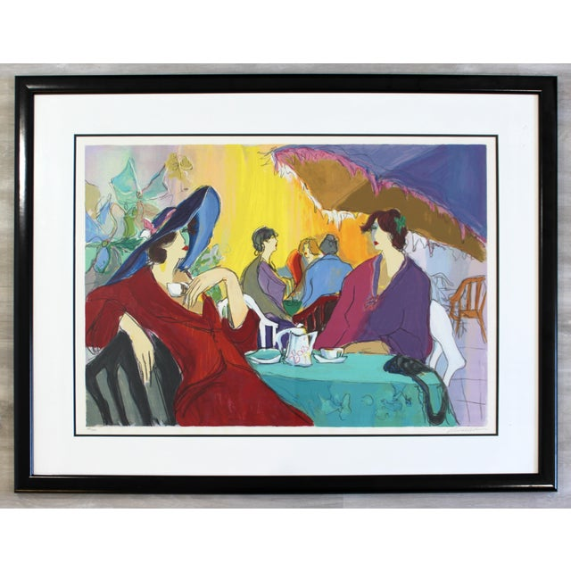 Yellow Contemporary Modern Isaac Maimon Framed Hand Signed Serigraph Cafe Select For Sale - Image 8 of 8