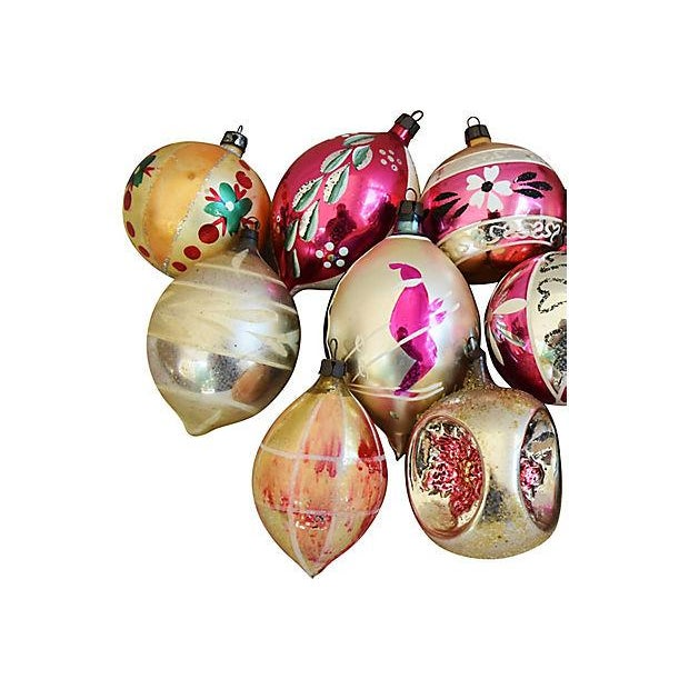 Hand Decorated European Christmas Ornaments w/Box - Set of 12 - Image 3 of 8
