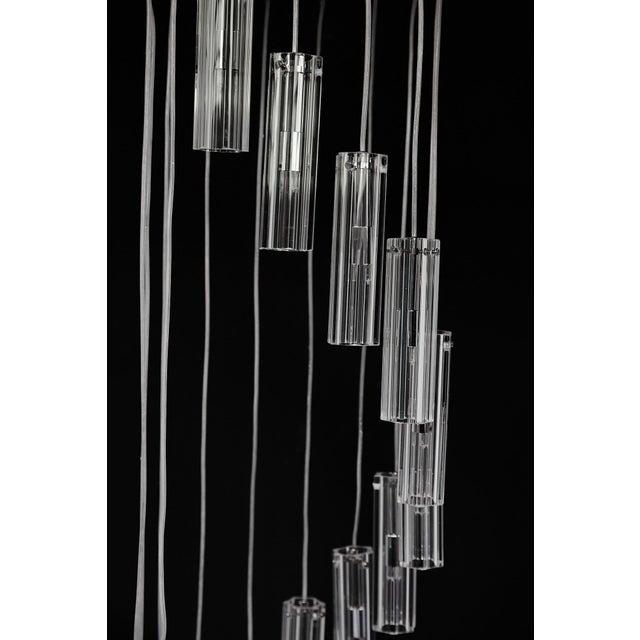 "Cascading Glass Pendant Chandelier, 60"" For Sale In Atlanta - Image 6 of 13"