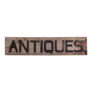 Authentic Vintage Wooden Antique Sign For Sale