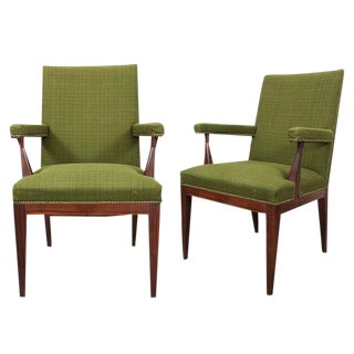 Mid-Century Upholstered Rosewood Chairs- A Pair For Sale