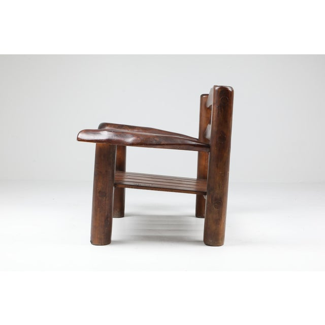 1950s Rustic Wooden Wabi Sabi Lounge Chairs For Sale - Image 6 of 11