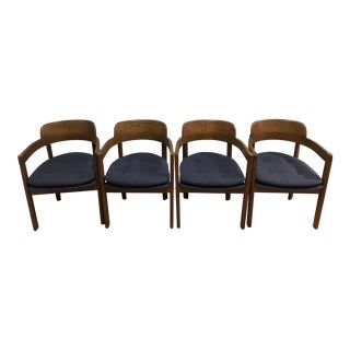 1980s Vintage Boling Wood Dining Chairs- Set of 4 For Sale