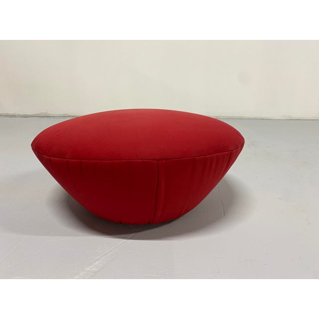 Red Postmodern Lounge Chair and Ottoman by Rolf Benz - 2 Pieces For Sale - Image 8 of 11