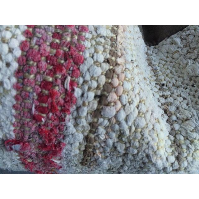 Moroccan Berber Blush & Cream Kilim Pillow Cover - Image 4 of 5