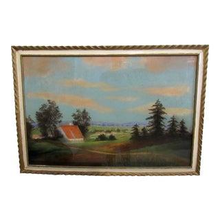 Vintage Framed Landscape Artwork For Sale
