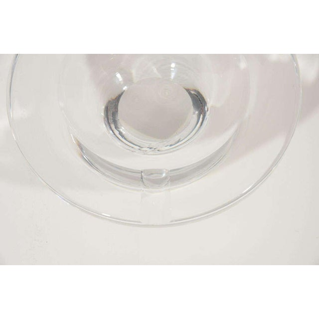 Transparent Mid Century Modern Glass Ashtray by Lindstrand for Kosta Boda For Sale - Image 8 of 12