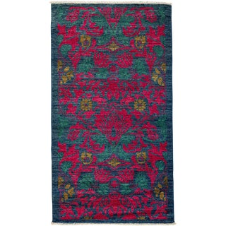 "Arts & Crafts Hand-Knotted Wool Rug - 2'10"" X 5'6"" For Sale"