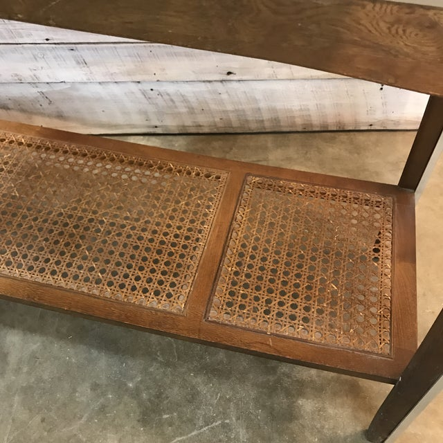 Mid-Century Walnut and Chrome Console Sofa Table For Sale - Image 4 of 11