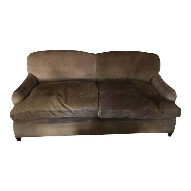 Groovy George Smith Suede Sleeper Sofa Chairish Inzonedesignstudio Interior Chair Design Inzonedesignstudiocom