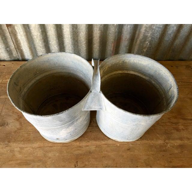 Vintage Galvanized Double Bucket - Image 6 of 11