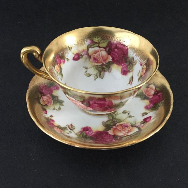 Vintage Golden Rose, Royal Chelsea Tea Cup & Saucer in Cabbage Rose , Bone China Made in England excellent condition....