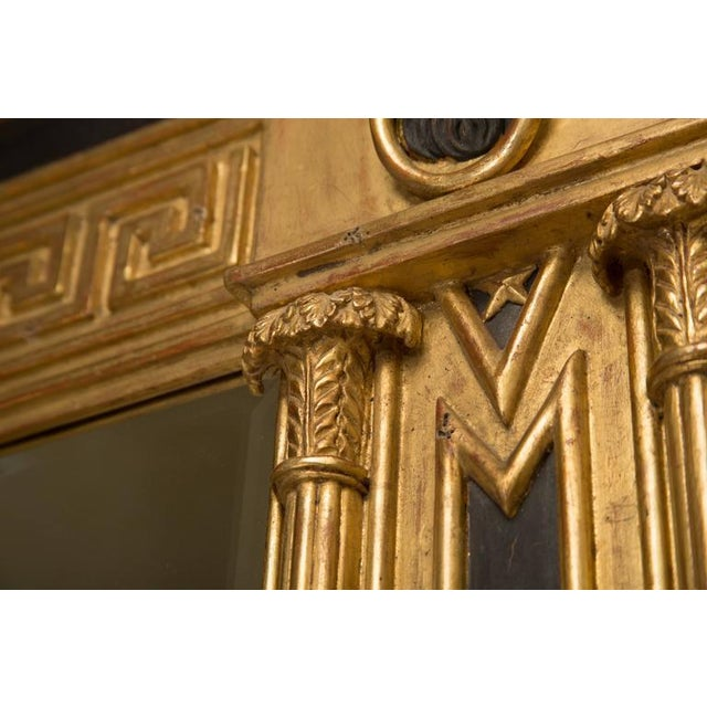 Pair of Regency Giltwood and Ebonized Wall Mirrors - Image 3 of 7